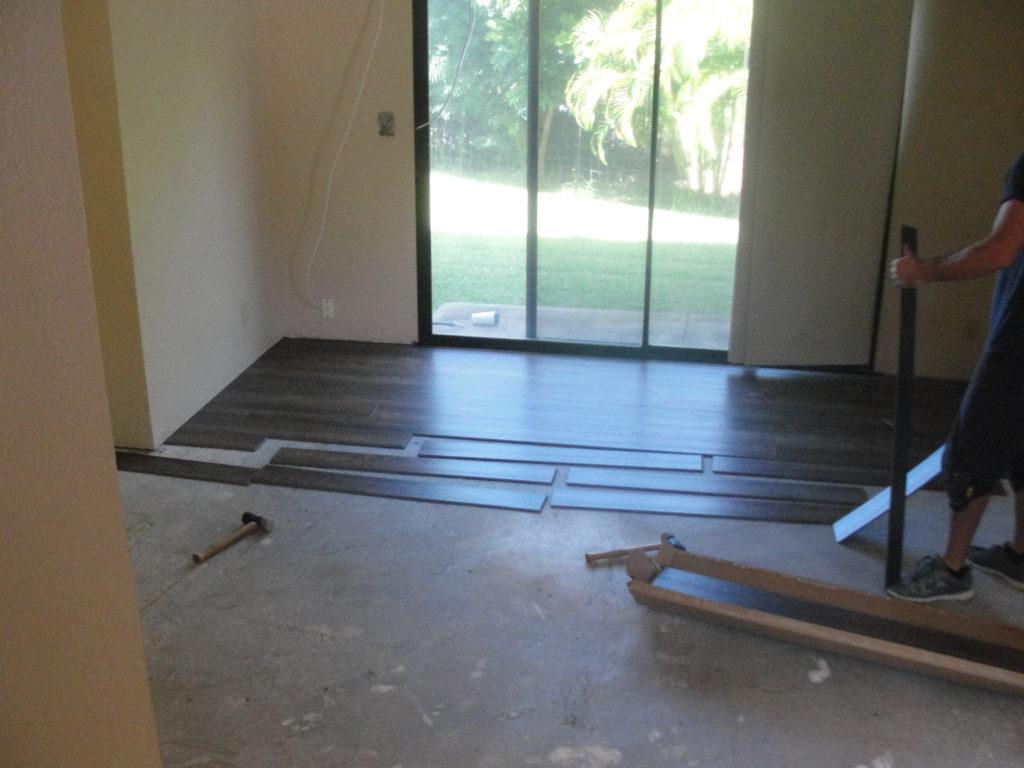 Laying New Flooring Basement