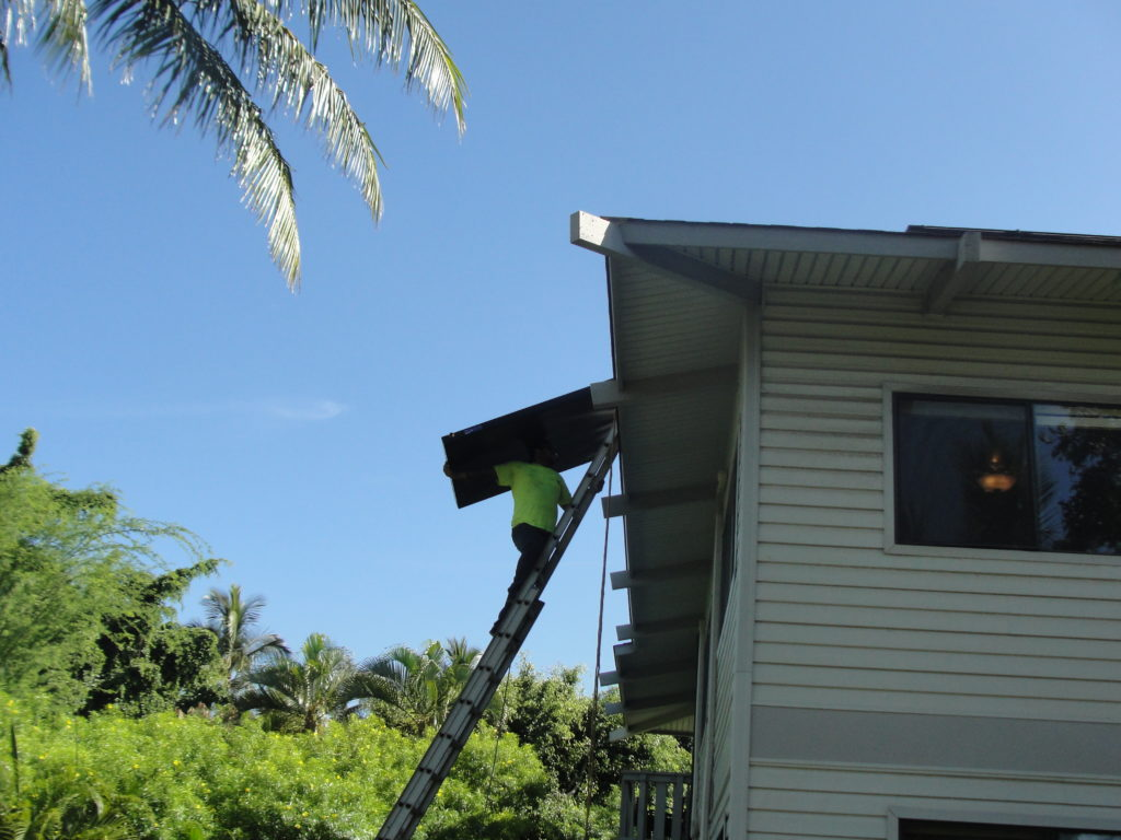 Putting up a New Solar Panal